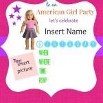 American Girl Birthday Party Invitations: Free Printables | Ag Doll   American Girl Party Invitations Free Printable