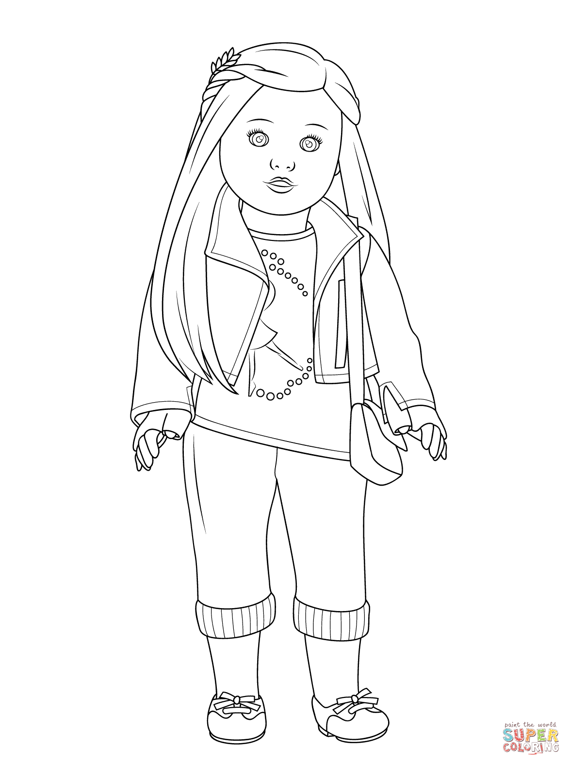 American Girl Isabelle Doll Coloring Page | Free Printable Coloring - Free Printable Coloring Pages For Girls