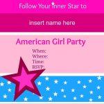 American Girl Party Invitations • American Girl Ideas | American   American Girl Party Invitations Free Printable