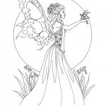 Amy Brown Fairy Coloring Book Fairy Myth Mythical Mystical Legend   Free Printable Coloring Pages For Adults Dark Fairies