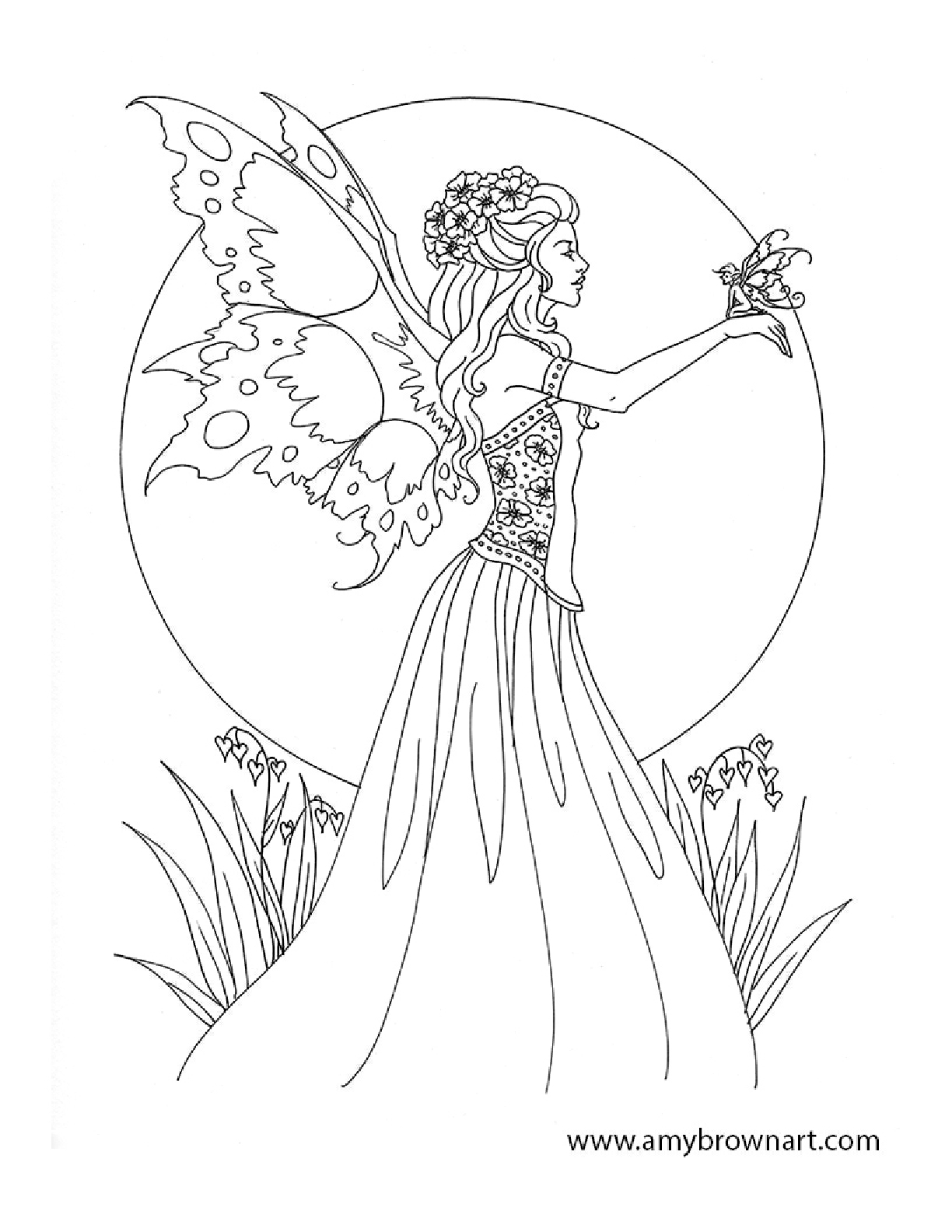 Amy Brown Fairy Coloring Book Fairy Myth Mythical Mystical Legend - Free Printable Coloring Pages For Adults Dark Fairies