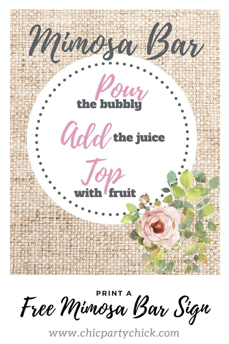 An Easy Mimosa Bar Set Up Guide For Any Occasion   Fun Stuff - Free Printable Mimosa Bar Sign