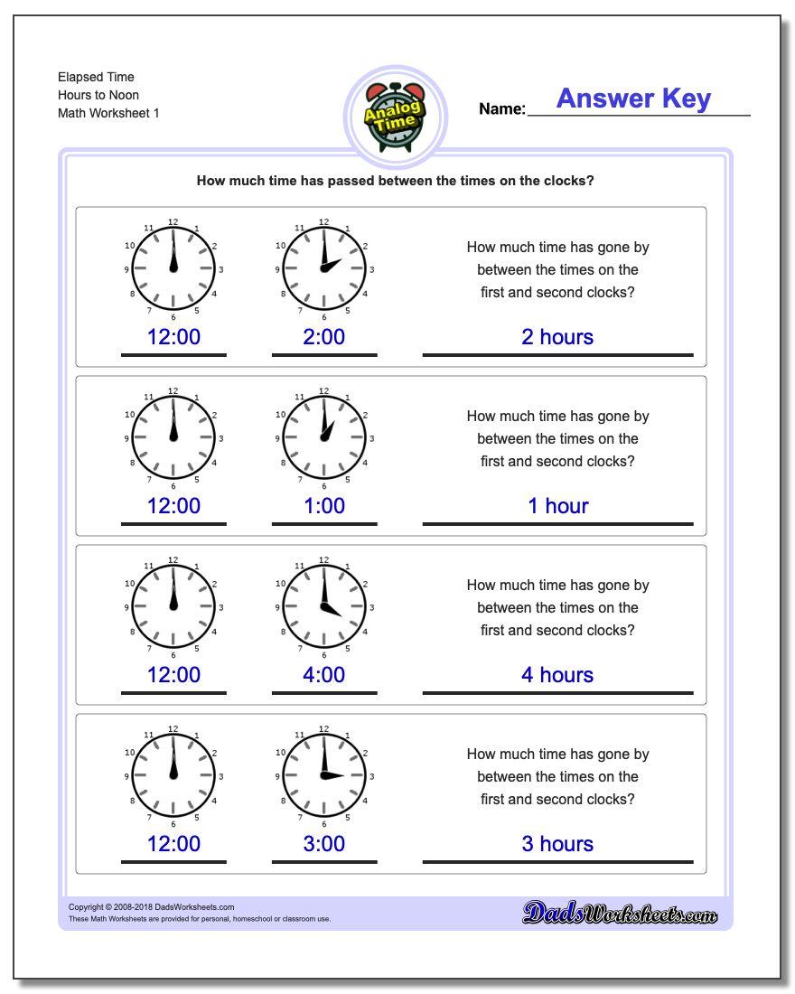 Analog Elapsed Time - Elapsed Time Worksheets Free Printable