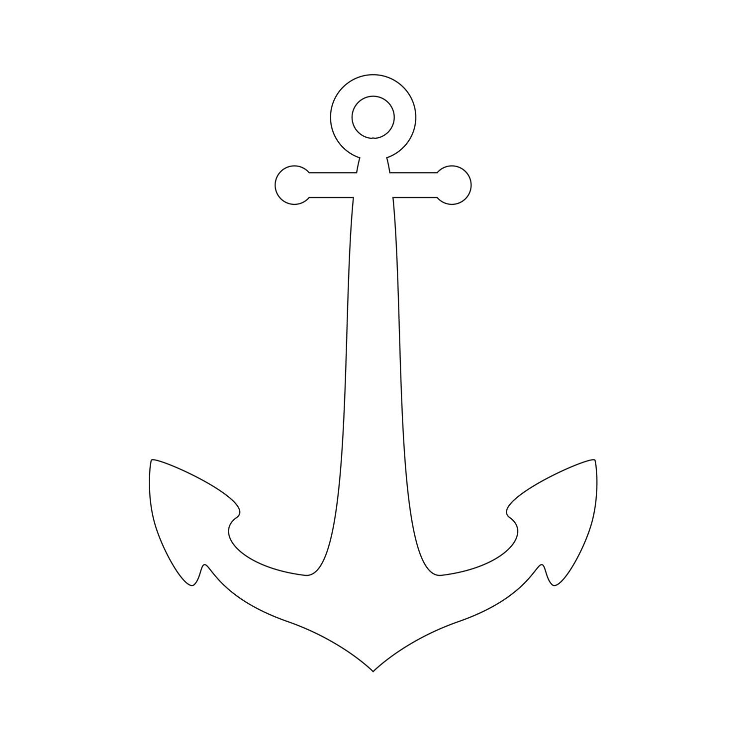 Anchor Stencil | Free Printable Stencil Templates | Wood Burning - Free Printable Stencils