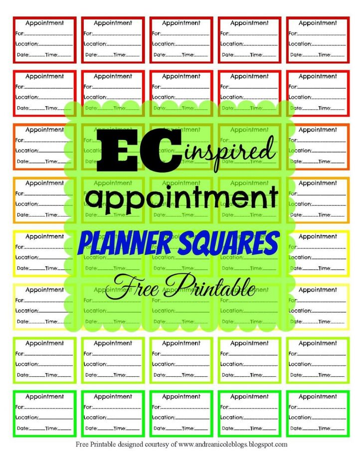 Free Printable Appointment Planner