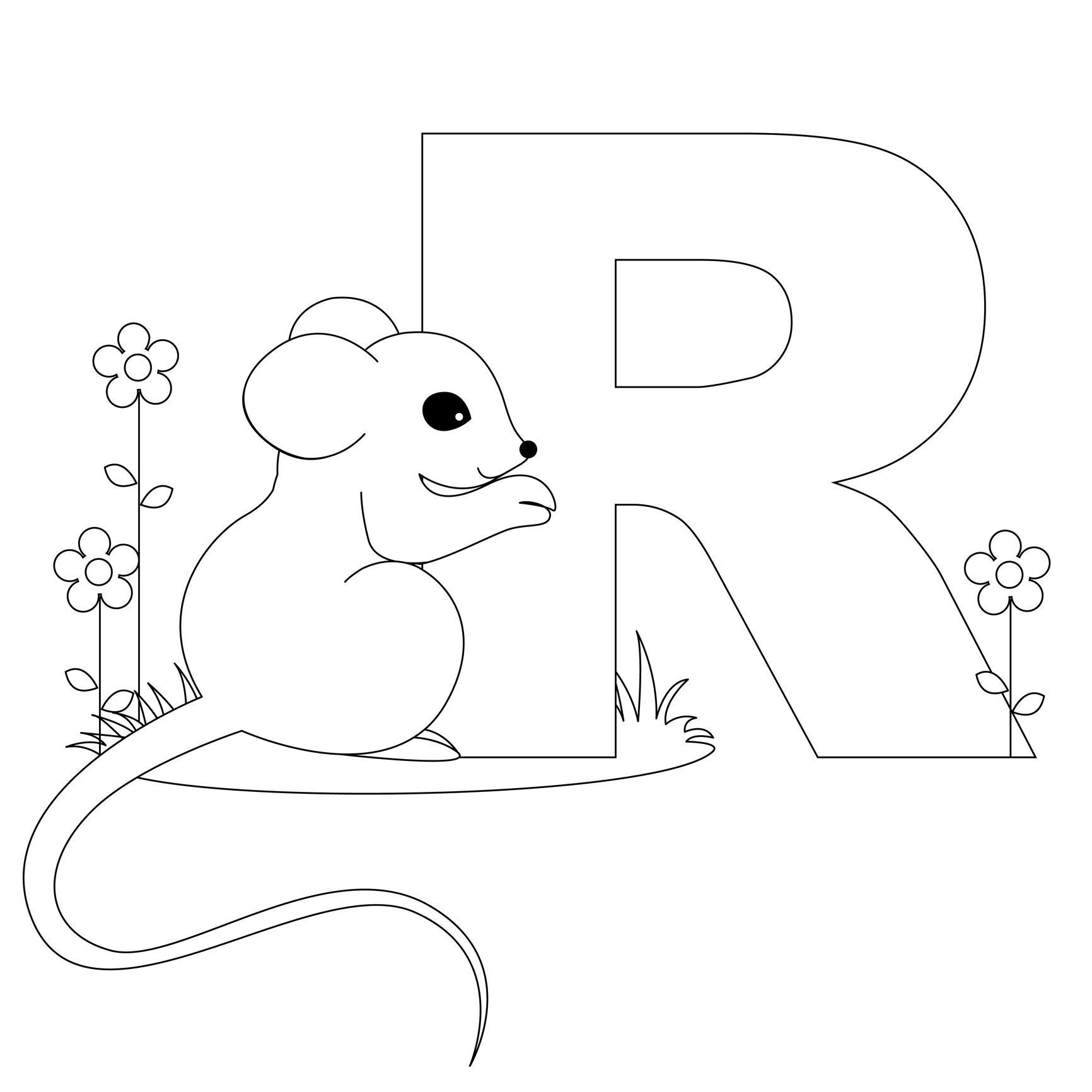Animal Alphabet Letter R Is For Rat! | Alphabet Crafts..the Letter R - Free Printable Animal Alphabet Letters