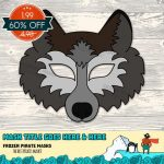 Animal Face Templates Fresh Wolf Mask Printable Wolf Costume Animal   Free Printable Wolf Face Mask
