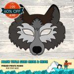 Animal Face Templates Fresh Wolf Mask Printable Wolf Costume Animal   Free Printable Wolf Face Mask