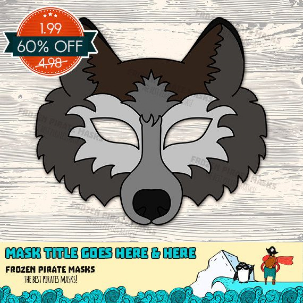 Animal Face Templates Fresh Wolf Mask Printable Wolf Costume Animal - Free Printable Wolf Face Mask