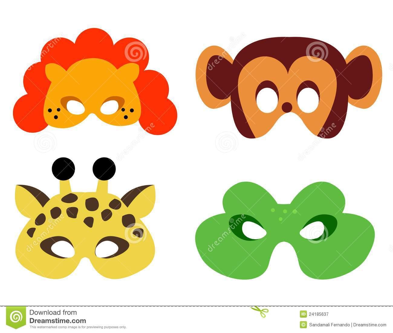 Animal Mask Stock Vector. Illustration Of False, Dangerous - 24185637 - Animal Face Masks Printable Free