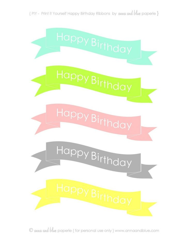Free Printable Happy Birthday Cake Topper