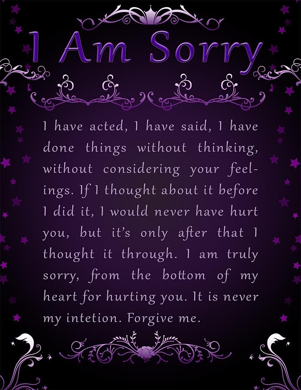 Apology Card Templates | 10+ Free Printable Word & Pdf - Free Printable I Am Sorry Cards