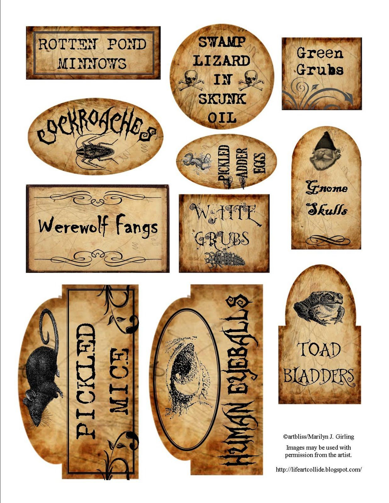 Apothecary Jar Labels For Download … | Holiday - Free Printable Halloween Bottle Labels