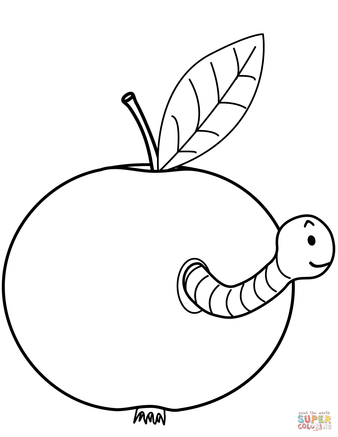 Apples Coloring Pages | Free Coloring Pages - Free Printable Worm Worksheets