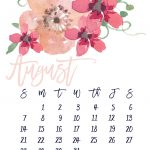 August 2016 Free Pretty Printable Calendar | Marinobambinos   Free Printable Clipart For August