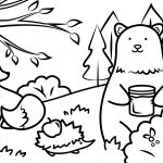 Autumn Animals Coloring Page | Free Printable Coloring Pages   Free Printable Animal Coloring Pages