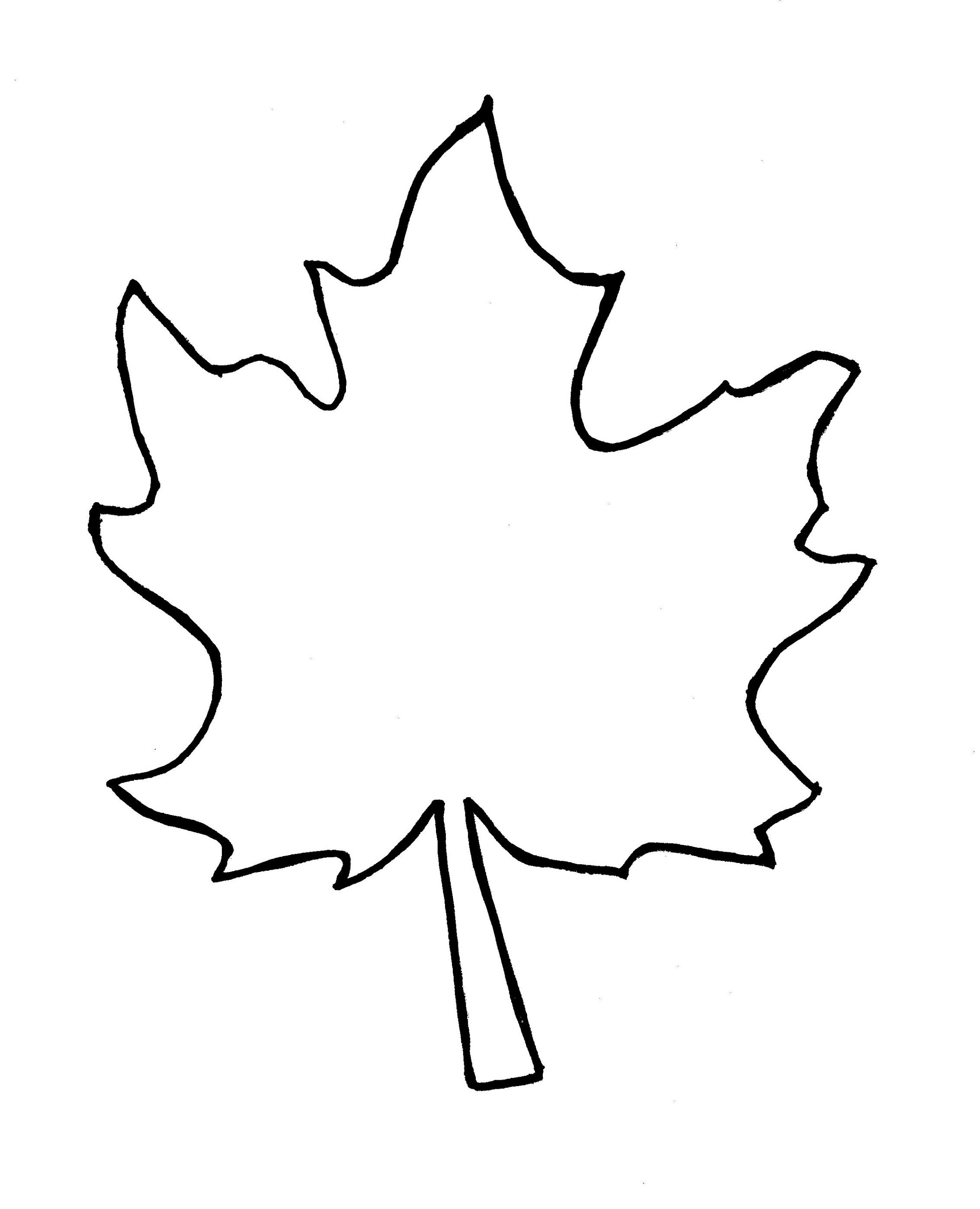 Autumn Leaf Outline Template Clipart Free To Use Clip Art Resource 2 - Free Printable Leaves