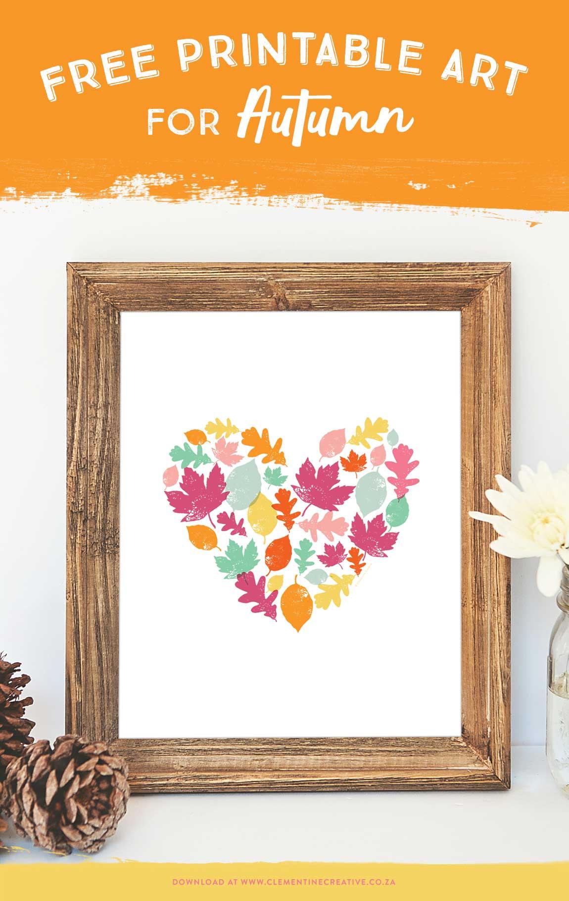 Autumn Leaves Art Print - Free Printable Art For Your Home - Free Printable Artwork For Home