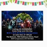 Avenger Birthday Invitations | Birthdaybuzz   Avengers Party Invitations Printable Free