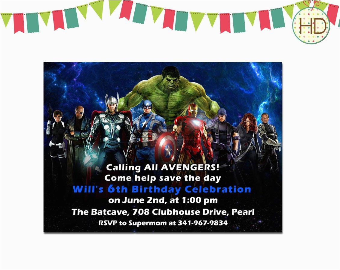 Avenger Birthday Invitations   Birthdaybuzz - Avengers Party Invitations Printable Free