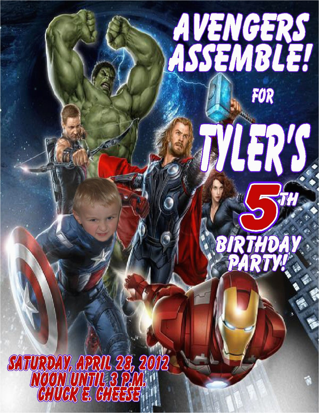 Avengers Birthday Invitation Templates Free | Birthdaybuzz - Avengers Party Invitations Printable Free