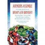 Avengers Birthday Invitations   Ingeniocity.co   Avengers Party Invitations Printable Free