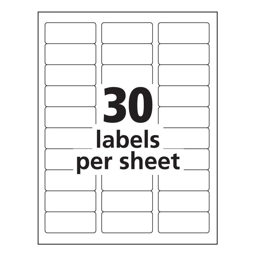 Avery Labels 30 Per Sheet Johnnecrewpulseco Free Printable Address - Free Printable Address Label Templates
