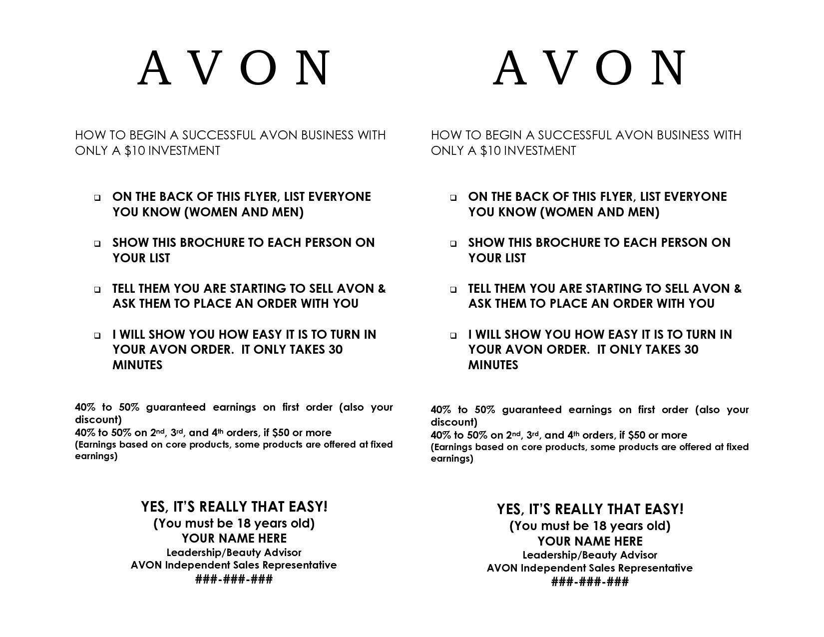 Avon Flyers | Avon Business | Avon | Pinterest | Avon, Avon - Free Printable Avon Flyers