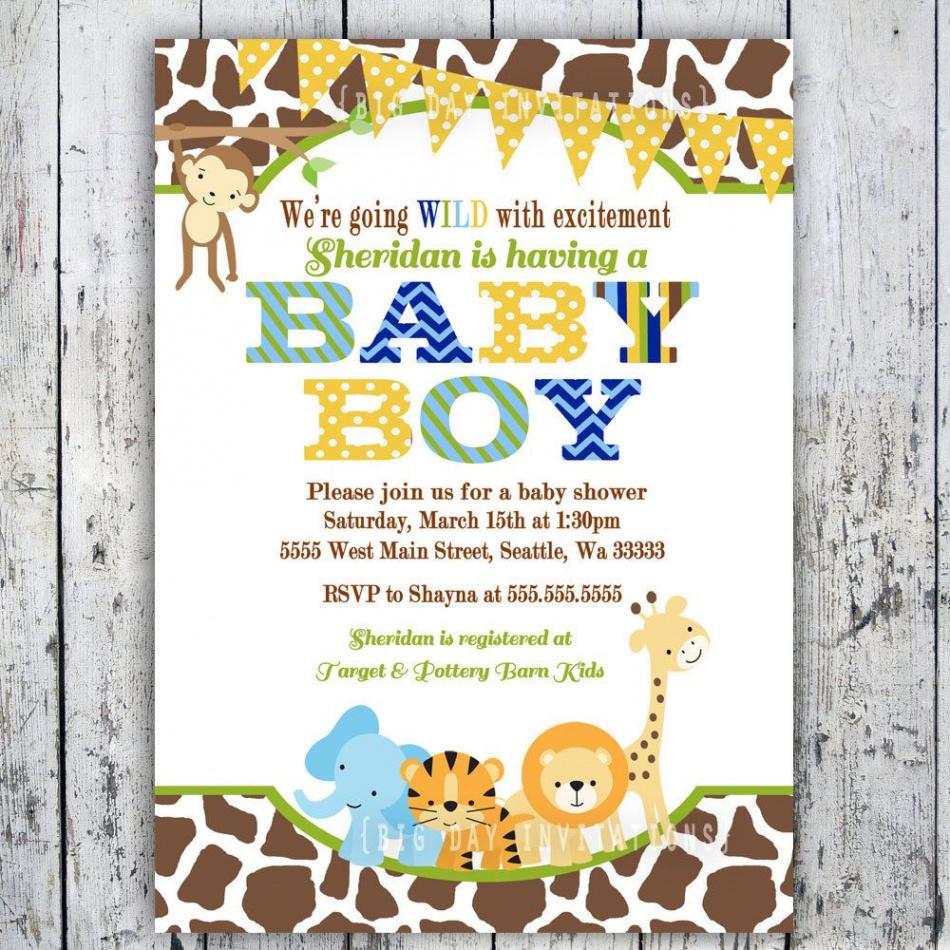 Awesome Free Printable Jungle Safari Baby Shower Invitations - Free Printable Jungle Safari Baby Shower Invitations