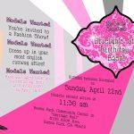 Awesome Free Template Fashion Show Birthday Party Invitations   Free Printable Fashion Templates