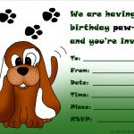 Awesome Of Dog Birthday Party Invitations Invitation Templates   Dog Birthday Invitations Free Printable