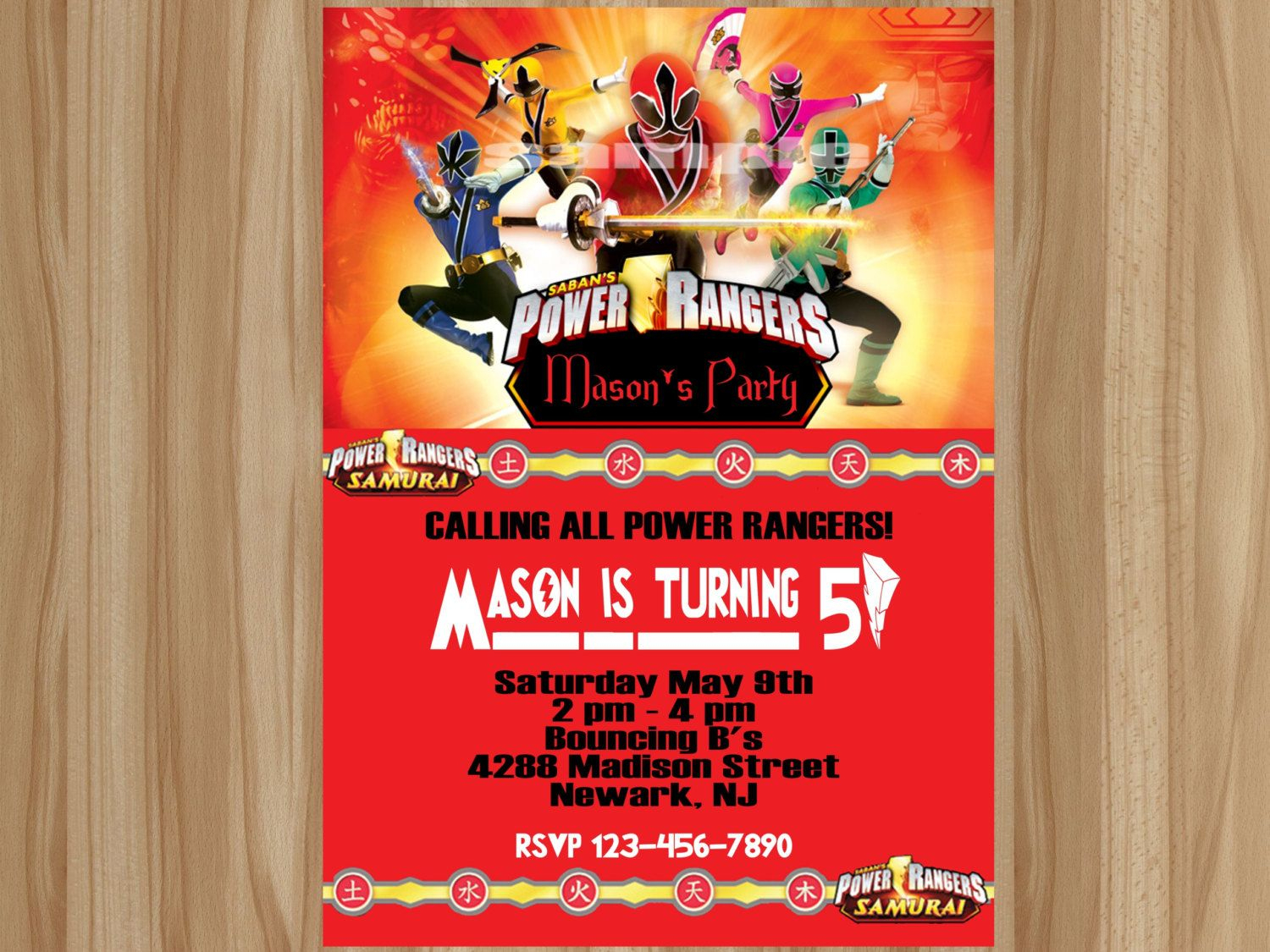 Awesome Power Ranger Birthday Invitations | Bagvania Invitation - Free Printable Power Ranger Birthday Invitations