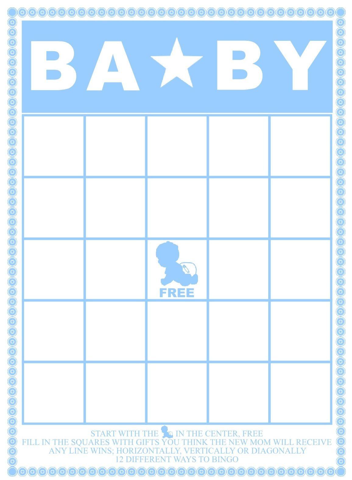 Baby Bingo Template | Madinbelgrade - Baby Bingo Free Printable Template