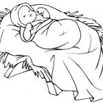 Baby Jesus In A Manger Coloring Page | Free Printable Coloring Pages   Free Printable Christmas Baby Jesus Coloring Pages