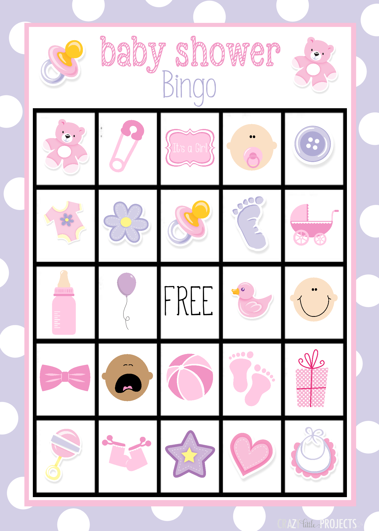 Baby Shower Bingo Cards - Baby Bingo Free Printable