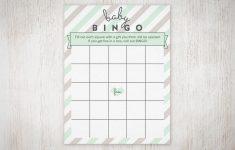 Free Printable Baby Shower Bingo Cards Pdf