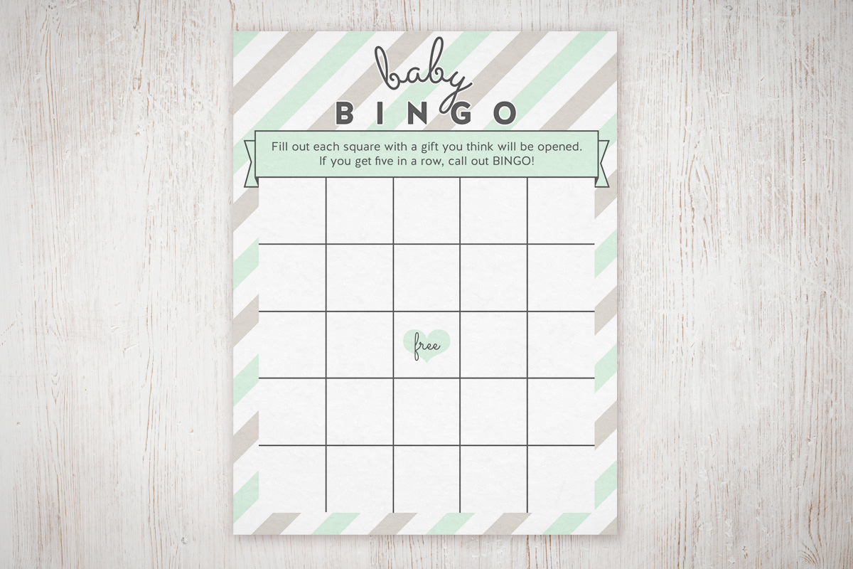 Baby Shower Bingo Free Printable | The Little Umbrella - Free Printable Baby Shower Bingo Cards Pdf