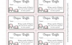 Free Printable Diaper Raffle Tickets Elephant