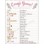 Baby Shower Emoji Pictionary Free Printable   Baby Shower Ideas   Wedding Emoji Pictionary Free Printable
