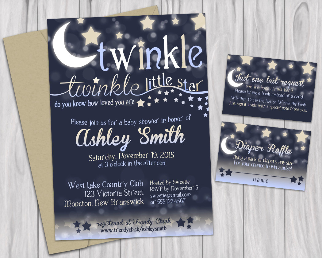 Baby Shower Invitation Template Twinkle Twinkle Little Star Baby - Free Printable Twinkle Twinkle Little Star Baby Shower Invitations