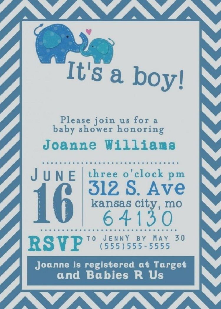 Baby Shower Invitations For Boys Free Templates | Invitation Ideas - Free Baby Boy Shower Invitations Printable