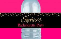 Bachelorette Party Water Bottle Labels Printable | Etsy – Free Printable Water Bottle Labels Bachelorette