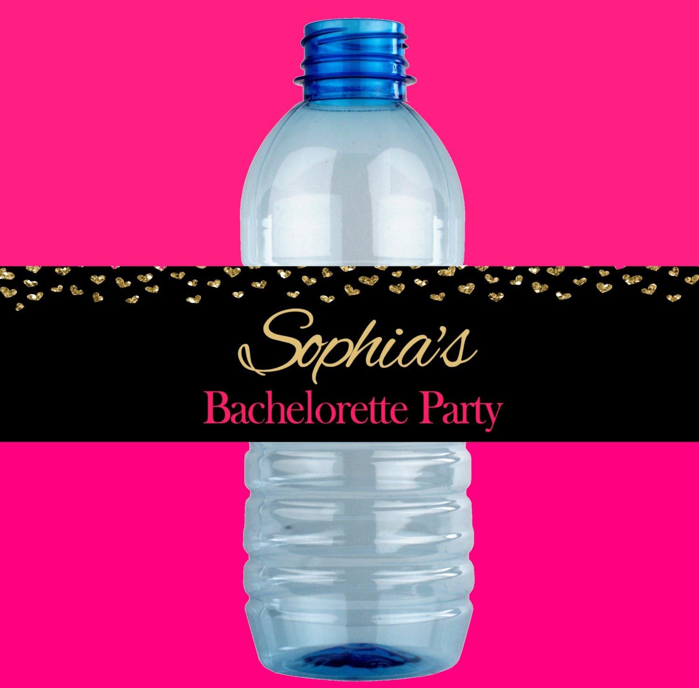 Bachelorette Party Water Bottle Labels Printable | Etsy - Free Printable Water Bottle Labels Bachelorette