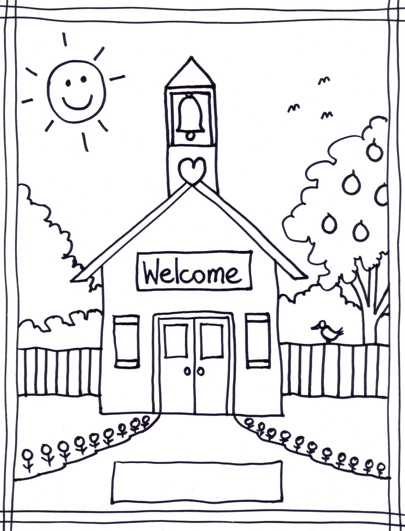 Back To School Coloring Pages Free Printables Image 22 … | Classroom - Free Printable Coloring Sheets For Back To School