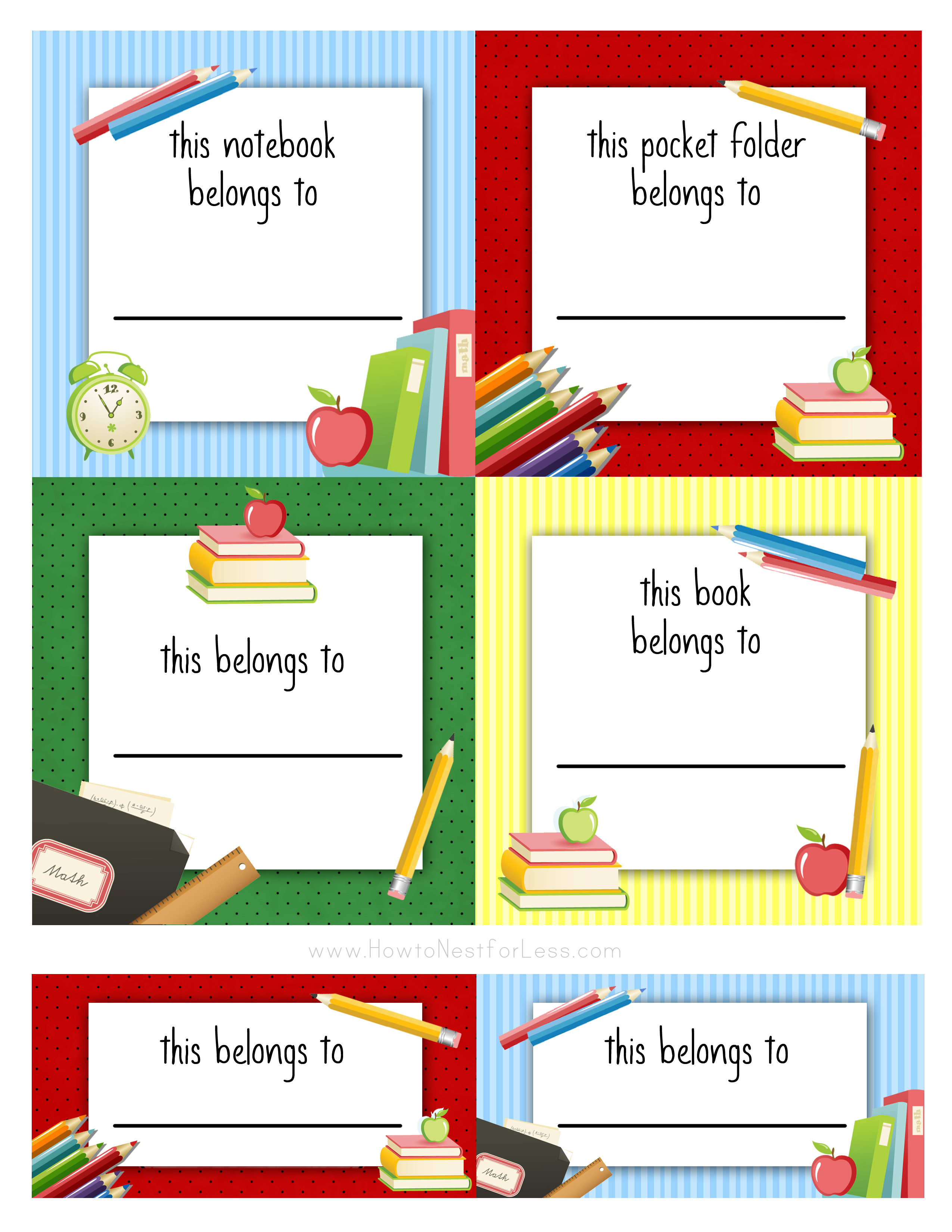 Back To School Labels For Kids - How To Nest For Less™ - Free Printable Name Labels For Kids