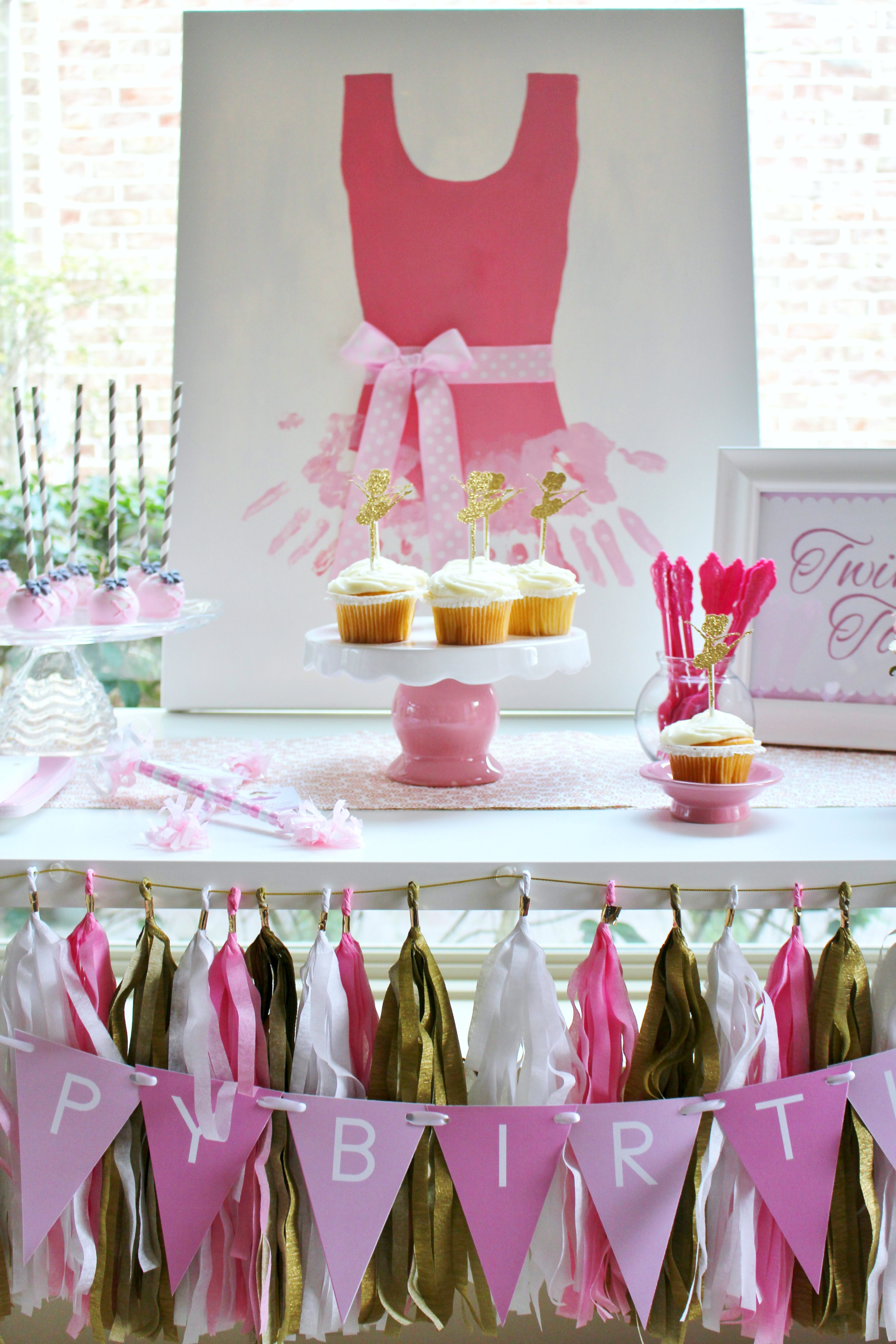 Ballerina Party Ideas + Free Printables   Catch My Party - Free Printable Ballerina Birthday Invitations