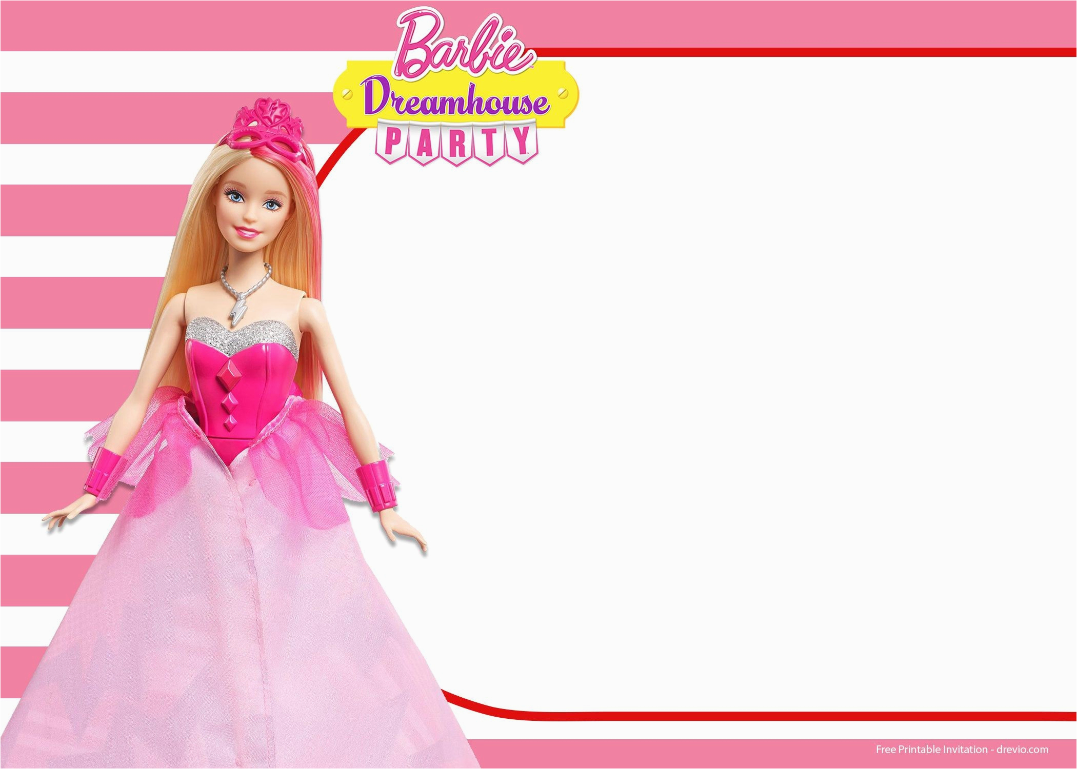 Barbie Birthday Invitation Card Free Printable Barbie Birthday Card - Free Printable Barbie Birthday Party Invitations