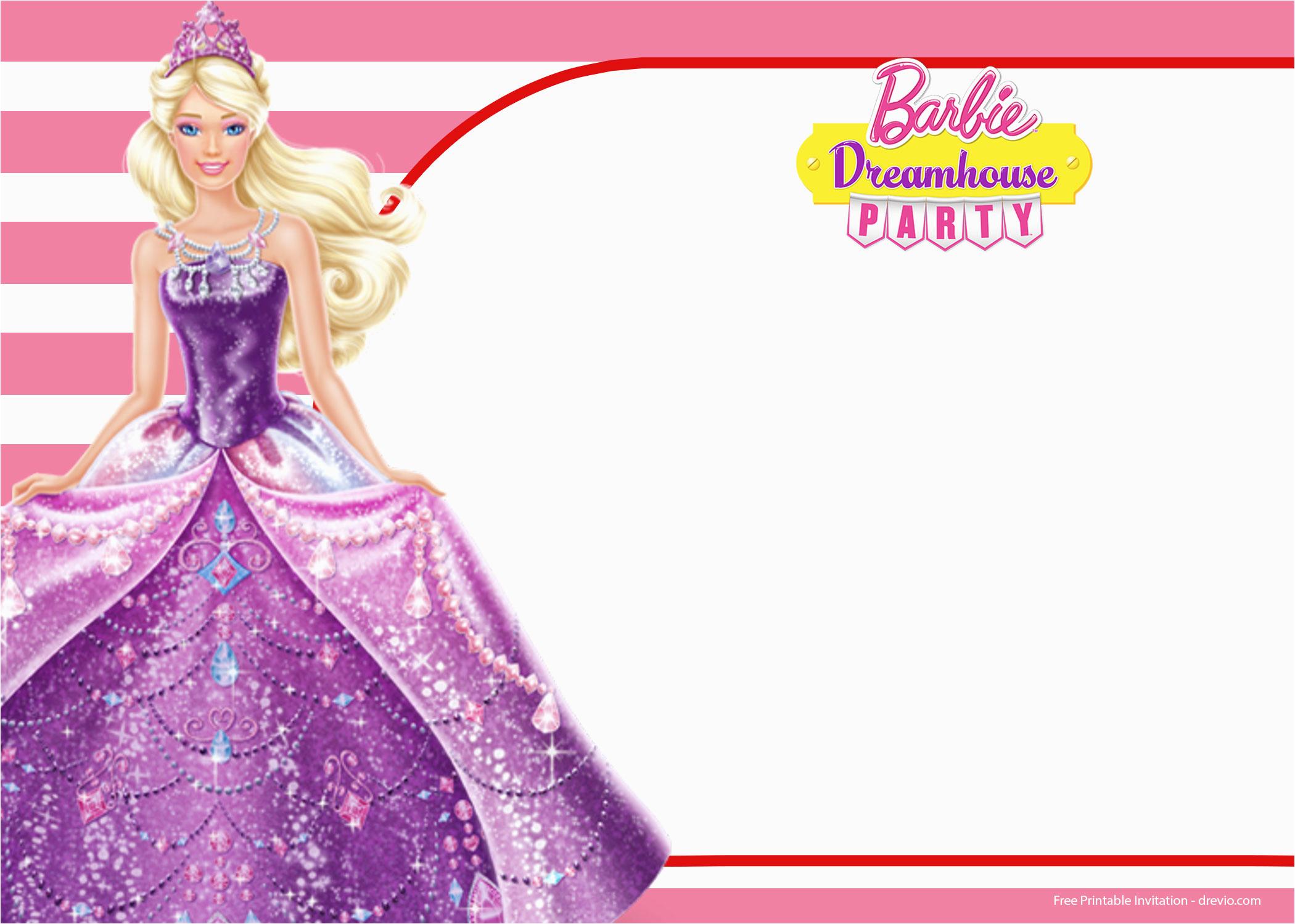 Barbie Birthday Invitations Templates Free | Birthdaybuzz - Free Printable Barbie Birthday Party Invitations