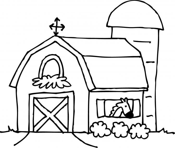 Free Printable Barn Coloring Pages