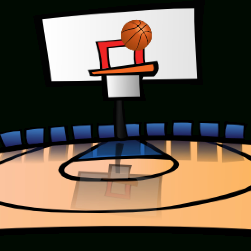 Basketball Court Clip Library Stock Free - Rr Collections - Free Printable Basketball Court